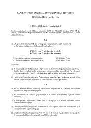 A 2005. évi költségvetés végrehajtásáról - Tapolca
