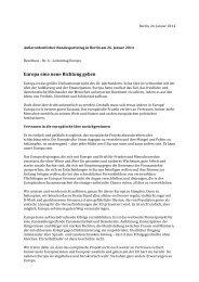 """Beschluss zum Leitantrag """"Europa eine neue Richtung geben"""" - SPD"""