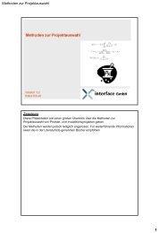 Methoden zur Projektauswahl - Interface GmbH