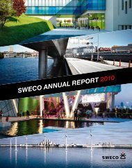 SWECO ANNUAL REPORT 2010