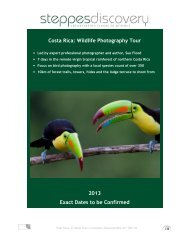 Costa Rica - Steppes Discovery