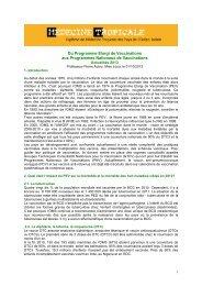 Vaccinations et Programme Elargi de Vaccinations