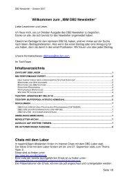 """Willkommen zum """"IBM DB2 Newsletter"""" Inhaltsverzeichnis ... - Bytec"""