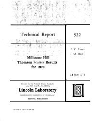 Millstone Hill Thomson Scatter Results for 1970 - MIT Haystack ...