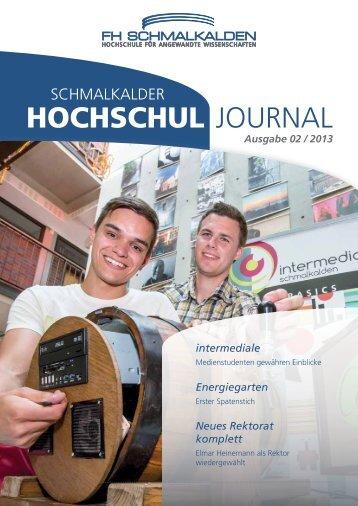 Aktuelle Ausgabe: 2/2013 - Fachhochschule Schmalkalden