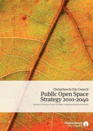 Public Open Space Strategy 2010-2040 - Christchurch City Council