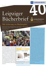 Download Bücherbrief Nr. 40 als PDF - Leipziger Buchmesse