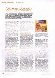 Schimmel-Stopper / Bericht der Fachzeitschrift ausbau+fassade