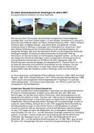 Gemeindezentrum Geislingen - Evangelische Kirchengemeinde ...