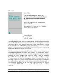 RBL 04/2013 Kaiser, Otto Gott, Mensch und Geschichte - Review of ...