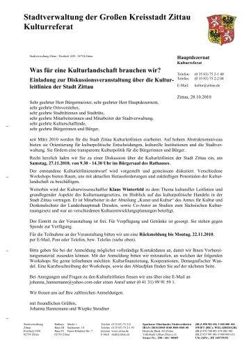Einladung zur Diskussionsveranstaltung über die - Zittau