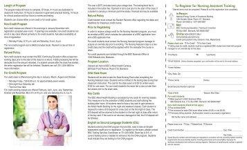 To Register for Nursing Assistant Training - Bismarck State College