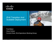 IPv6 Transition And Scalable Deployment - IT Services