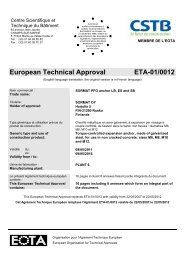 European Technical Approval ETA-01/0012