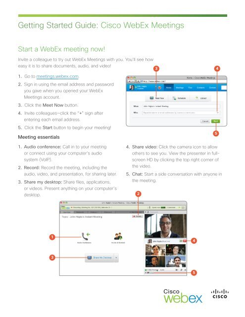 Getting Started Guide: Cisco WebEx Meetings