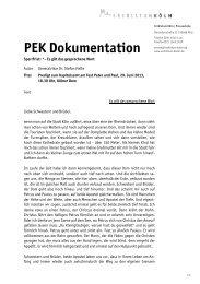 Kapitelsamt im Kölner Dom am Fest Peter und Paul - Erzbistum Köln