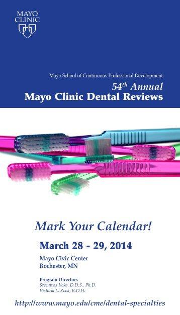 Dental Reviews Postcard 2014 - MC8018-56 - Mayo Clinic