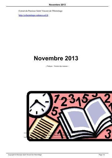 Novembre 2012 - Paroisse Saint Vincent de l'Hermitage