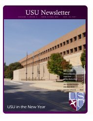 Vol. 2, Issue 1 01/16/07 - Uniformed Services University of the ...