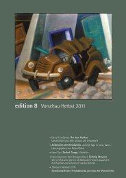 edition 8 Vorschau Herbst 2011