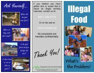 Illegal Food - Riverside County Department of Environmental Health