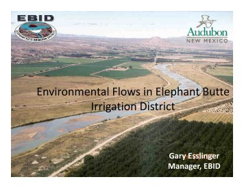 Environmental Flows in Elephant Butte Irrigation District