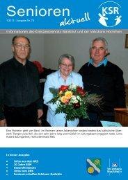 Ausgabe 1/2013 - KreisSeniorenRat Waldshut