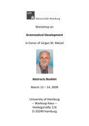 Phonological Acquisition of Bilingual Children - Universität Hamburg