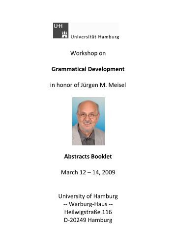 Phonological Acquisition of Bilingual Children - Universität Hamburg
