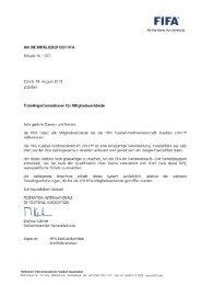 Nr. 1377 - Ticketinginformationen für Mitgliedsverbände - FIFA.com