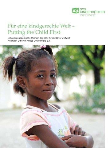 """SOS Kinderdörfer """"Für eine kindgerechte Welt – Putting the Child First"""""""