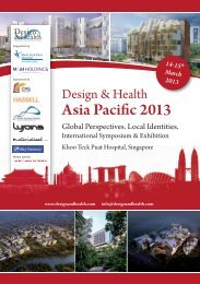 Asia Pacific 2013 - the International Academy of Design and Health