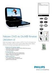 PET716/12 Philips Hordozható DVD-lejátszó - LCD és plazma TV ...