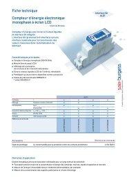 Fiche technique Compteur d'énergie électronique ... - SBC-support