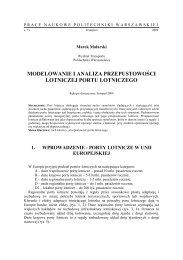 Modelowanie i analiza przepustowości lotniczej portu ... - Transportu