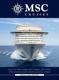 Katalog plaveb MSC Cruises - Riviera Tour