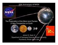 50th Anniversary of NASA - Brown University Planetary Geosciences