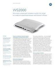 Spec Sheet-WS2000 Wireless Switch - Motorola Solutions