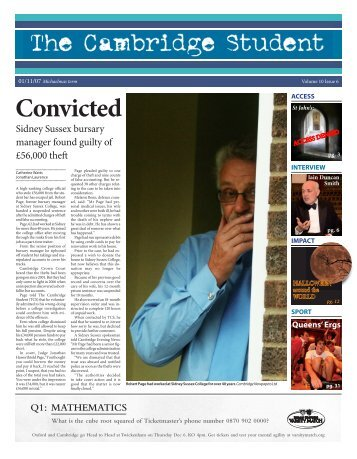 Michaelmas Issue 6 2007 - The Cambridge Student - University of ...
