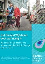 Folder sociaal wijkteam