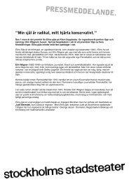 """Min själ är radikal, mitt hjärta konservativt."""" - Stockholms stadsteater"""