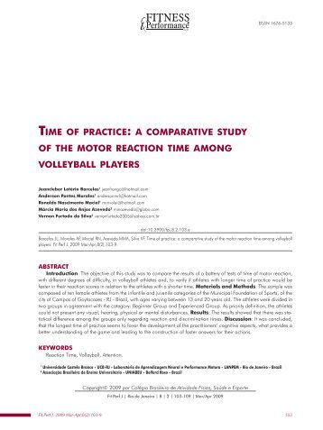 TIME OF PRACTICE: A COMPARATIVE STUDY OF THE MOTOR ...