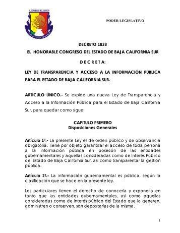 Ley de Transparencia y Acceso Público a la Información
