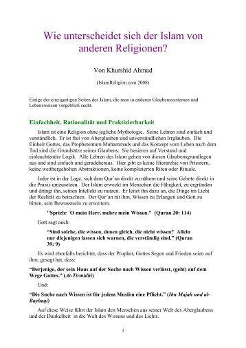 Wie unterscheidet sich der Islam von anderen ... - Way to Allah