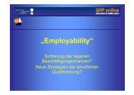 """""""Employability"""" - pbnet - Netzwerk für Politik und Bildung"""