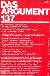 das argument - Instituts für kritische Theorie (InkriT)