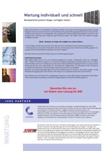 Wartung individuell und schnell - Cristie Data Products GmbH