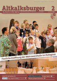 Ausgabe 2-2013/2014 - Altkalksburger Vereinigung