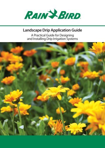 Landscape Drip Application Guide - Rain Bird irrigation