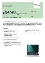 AMILO Pa 2510 Mobilität und Unabhängigkeit erfahren.